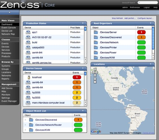 Zenoss Core - Enterprise IT Monitoring