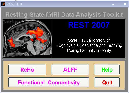Resting state fMRI data analysis toolkit